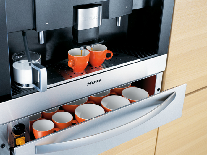 Miele coffee machine warming drawer