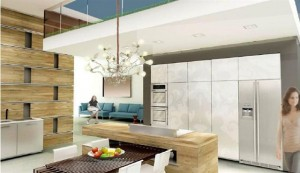 Kitchen design with seamless melding of indoor and outdoor space