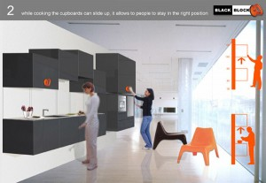 The traditional concept of the kitchen is taken apart and re-construed