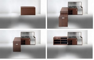 A fine piece of furniture and a kitchen at the same time