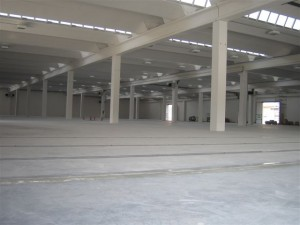 Interior shot of the new plant