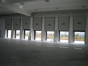Loading docks at Pedini's new factory