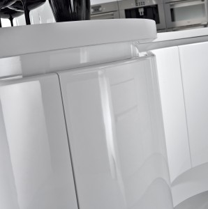 Glossy finish white lacquer